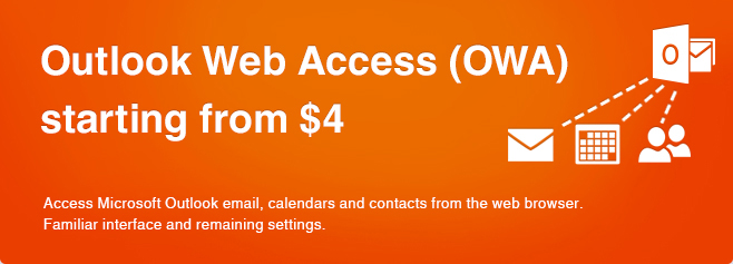 Outlook Web Access (OWA) starting from $4