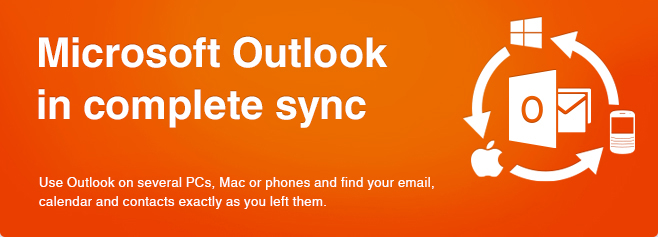 Microsoft Outlook in complete sync