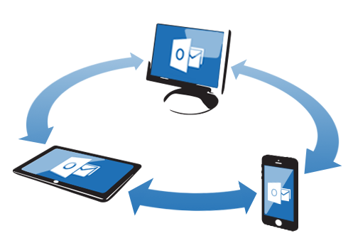Sync iPhone with Outlook.
